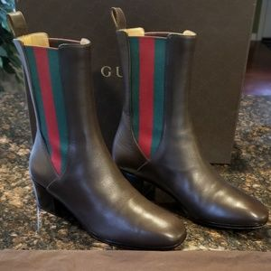 Gucci Womens Cocoa Brown Karen Leather Boots